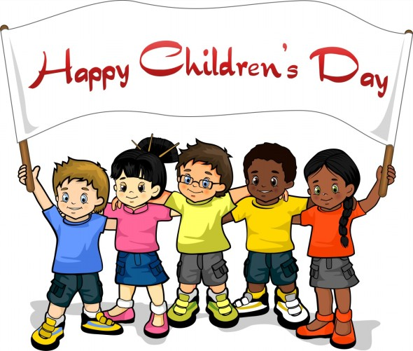 Kids-With-Happy-Childrens-Day-Banner